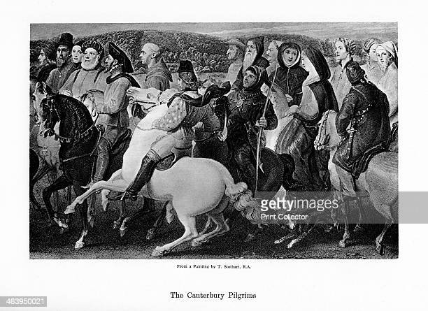 The Canterbury pilgrims 19th century Pilgrims from The Canterbury Tales by Geoffrey Chaucer