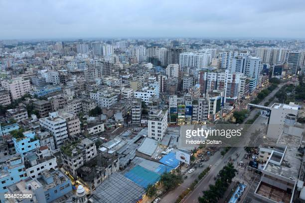 The capital city of Dhaka Aerial view on the centre of Dhaka the capital of Bangladesh in June 15 2015 in Dhaka Bangladesh