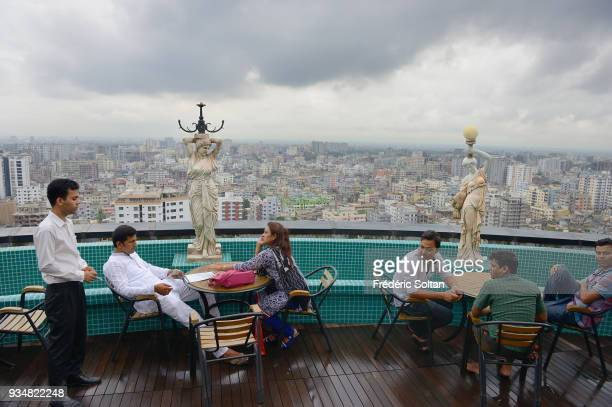 The capital city of Dhaka Restaurant on the terrace of a shopping mall for the upper class of Dhaka the capital of Bangladesh in June 15 2015 in...