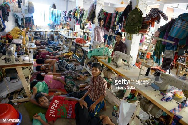 The capital city of Dhaka Small textile factory in the city of Dhaka where employees work 24 hours a day Dhaka is the capital of Bangladesh June 17...