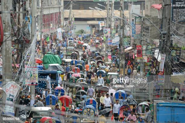The capital city of Dhaka The neighbourhood of Sadarghat in the old city of Dhaka the capital of Bangladesh in June 17 2015 in Dhaka Bangladesh