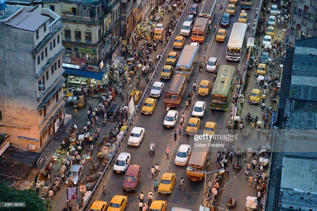 The capital city of Kolkata : Stock Photo