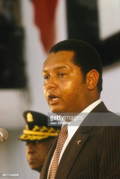 The capital of Haiti PortauPrince celebrates with pomp the 10th anniversary of the Presidency of JeanClaude Duvalier Baby Doc in April 1981 in...