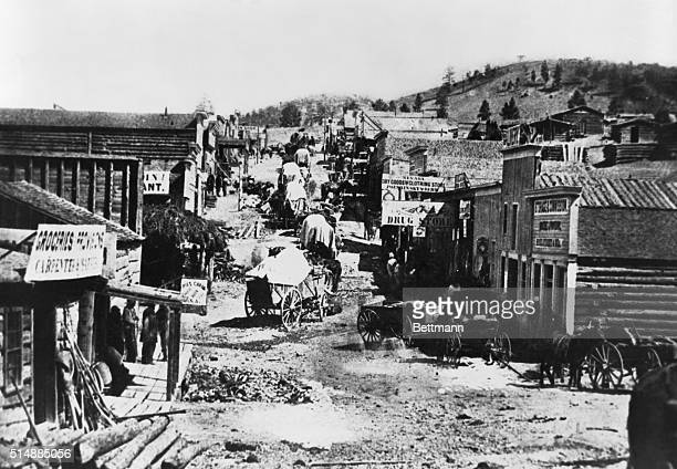 The capital of Montana in its days as a frontier town Note the garbage heap in left foreground