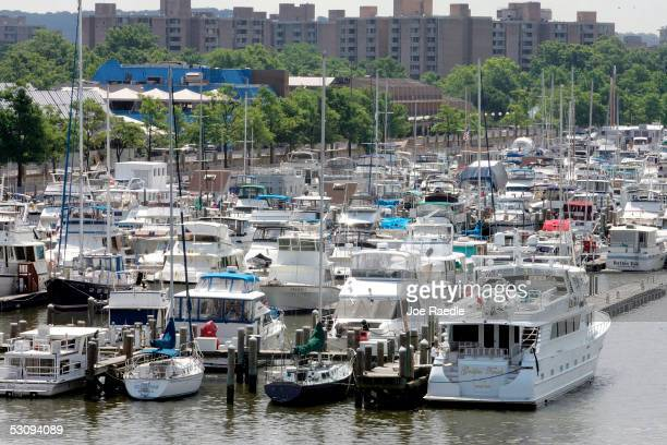 The Capital Yacht Club is seen on the Potomac River where the boat owned by Rep Randy Duke Cunningham is moored June 17 2005 in Washington DC Reports...