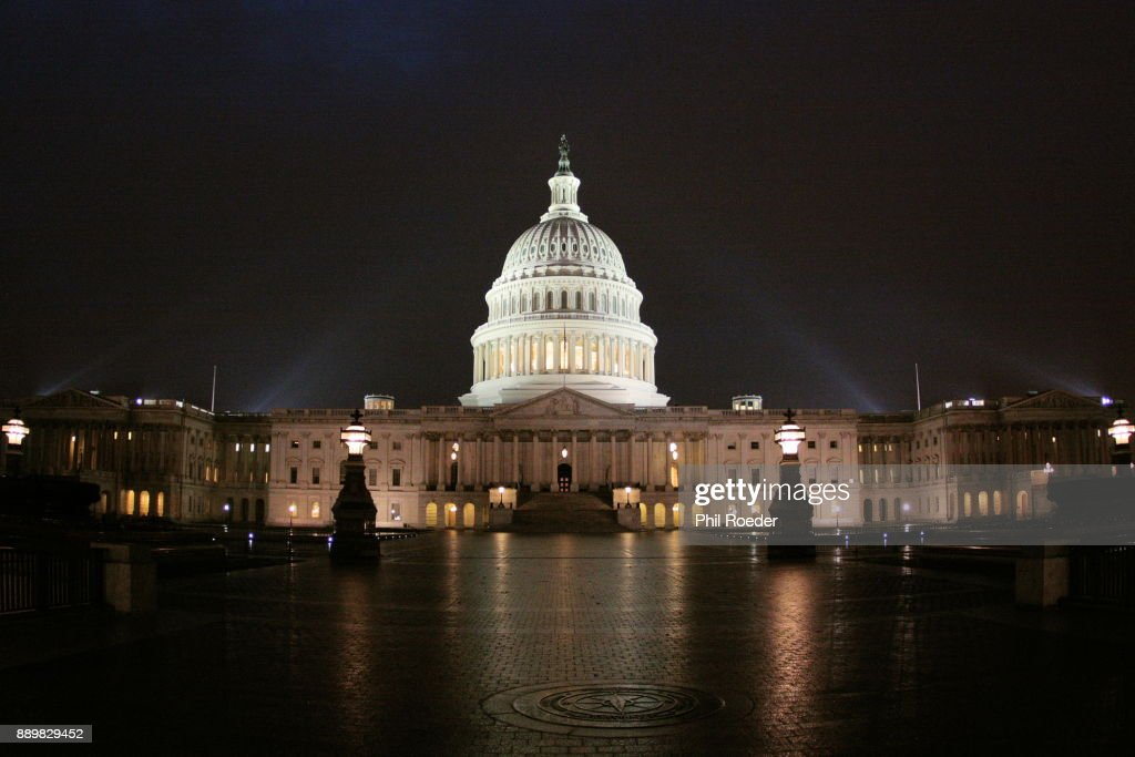 The Capitol at Night : Stock Photo