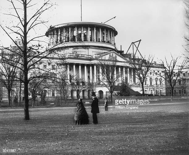 The Capitol Building in Washington DC seat of the United States Congress at the time of the construction of its dome
