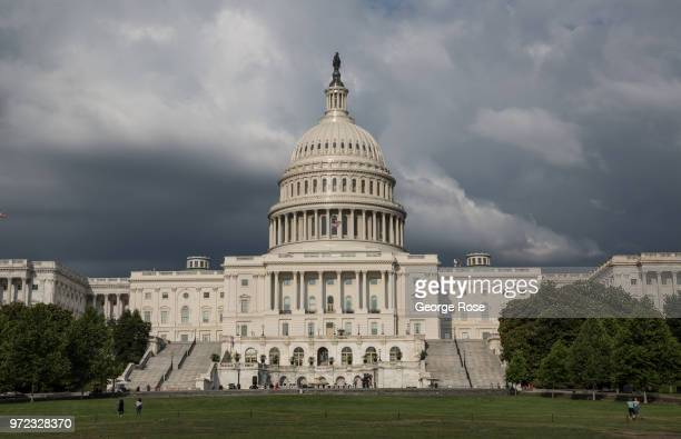 The Capitol Building is viewed on June 6 2018 in Washington DC The nation's capital the sixth largest metropolitan area in the country draws millions...