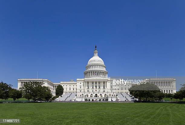 the capitol building - seat of united states senate (xxl) - capitol hill stock pictures, royalty-free photos & images