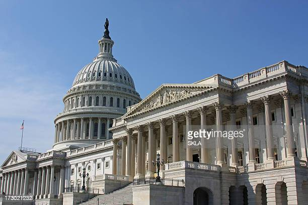 the capitol in washington dc (usa) - senate stock pictures, royalty-free photos & images