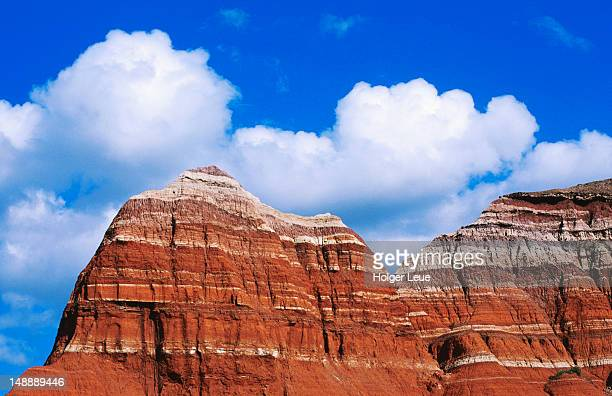 'the capitol' rock formation, palo duro canyon state park, near canyon. - texas stock pictures, royalty-free photos & images