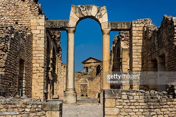 The Capitol seen through arch at Licinian Baths