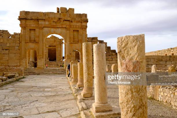 The Capitoline Hill of Sufetula The archaeological site of Sbeïtla contains the best preserved Roman forum temples in Tunisia The city was founded by...