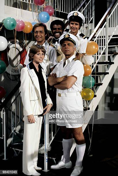BOAT The Captain and the Lady/One If By Land/Centerfold Season One 9/24/77 Pictured top row left Bernie Kopell Ted Lange Fred Grandy Lauren Tewes and...