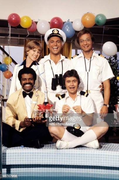 BOAT The Captain and the Lady/One If By Land/Centerfold Season One 9/24/77 Pictured top row left Lauren Tewes Gavin MacLeod Bernie Kopell Ted Lange...