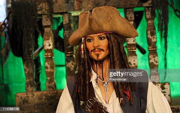 The Captain Jack Sparrow wax figure from 'Pirates Of The Caribbean On Stranger Tides' is unveiled at the Museo de Cera on May 17 2011 in Madrid Spain