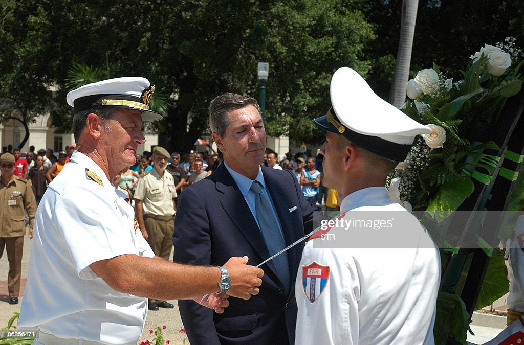 The captain of the Spanish Navy training : News Photo