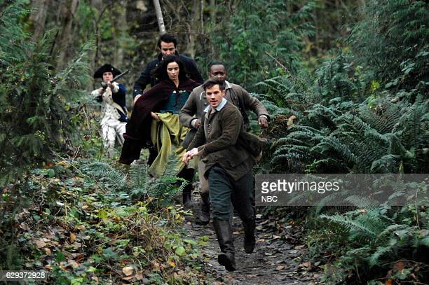 TIMELESS The Capture of Benedict Arnold Episode 109 Pictured Goran Visnjic as Garcia Flynn Abigail Spencer as Lucy Preston Malcolm Barett as Rufus...