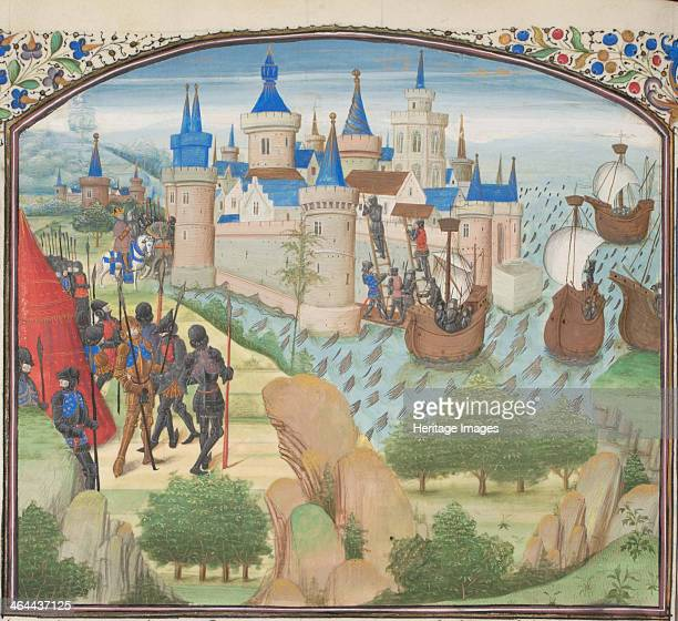 The capture of Constantinople by land and sea in 1204 Miniature from the Historia by William of Tyre 1460s Found in the collection of the...