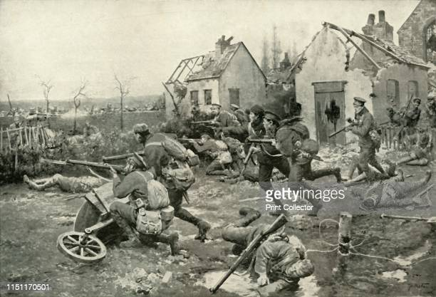 The Capture of Givenchy' Scene from the First World War 19141919 'How the Manchester Regiment Captured the Village of Givenchy by Storm and Drove Out...