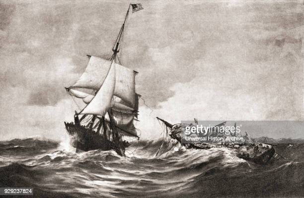 The capture of HMS Frolic by the sloopofwar USS Wasp a naval action fought in the Atlantic on 18 October 1812 during The War of 1812 From The History...