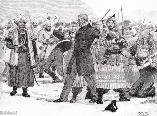 The capture of Sir William Hay Macnaghten and his party by the Afghan Prince Akbar Khan December 1841 They were later assassinated Sir William Hay...