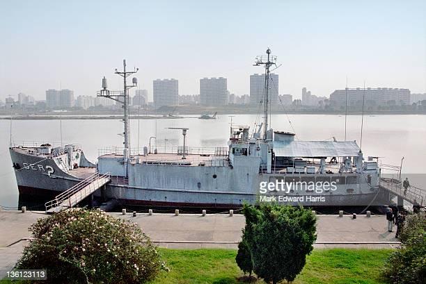 The captured USS Pueblo along the Taedong River in Pyongyang North Korea