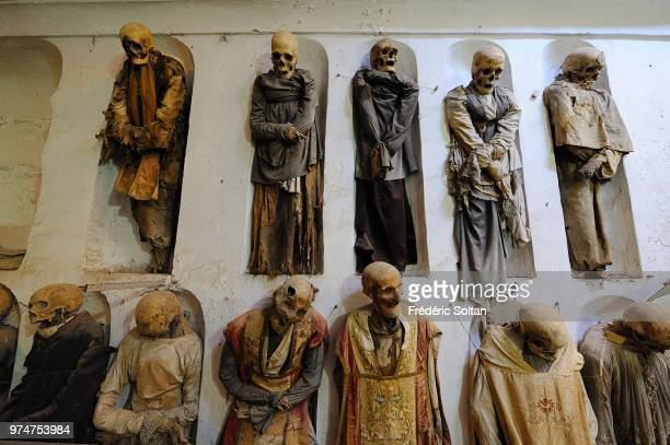 The Capuchin Catacombs of Palermo are burial catacombs in Palermo on June 10 Italy