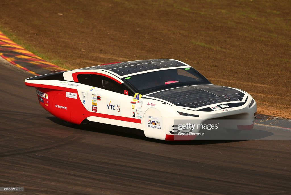 VI, the car from the Hong Kong's IVE Solar Car Team is tested on track at the Hidden Valley Motor Sport Complex before competing in the Cruiser class ahead of the 2017 Bridgestone World Solar Challenge on October 5, 2017 in Darwin, Australia. Teams from across the globe are competing in the 2017 World Solar Challenge - a 3000 km solar-powered vehicle race through the Australian Outback between Darwin and Adelaide. The race attracts teams from around the world, most of which are fielded by universities or corporations although some are fielded by high schools. The race has a 30-year history spanning thirteen races, with the inaugural event taking place in 1987. The race begins on October 8th with the first car expected to cross the finish line on October 11th.