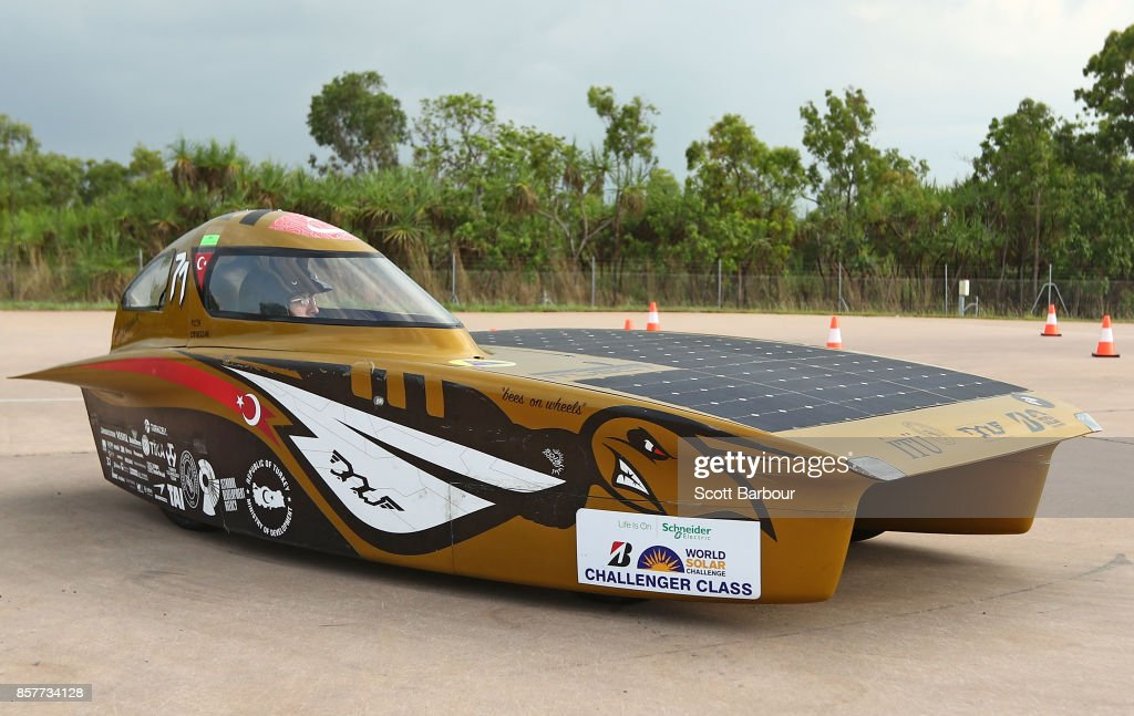 W. ISTANBUL, the car from Turkey's ITU Solar Car Team conducts figure 8 testing at the Hidden Valley Motor Sport Complex before competing in the Challenger class ahead of the 2017 Bridgestone World Solar Challenge on October 5, 2017 in Darwin, Australia. Teams from across the globe are competing in the 2017 World Solar Challenge - a 3000 km solar-powered vehicle race through the Australian Outback between Darwin and Adelaide. The race attracts teams from around the world, most of which are fielded by universities or corporations although some are fielded by high schools. The race has a 30-year history spanning thirteen races, with the inaugural event taking place in 1987. The race begins on October 8th with the first car expected to cross the finish line on October 11th.
