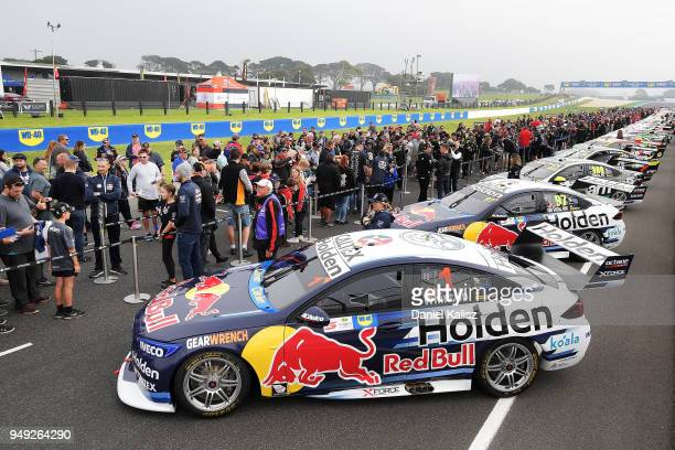 The car of Jamie Whincup driver of the Red Bull Holden Racing Team Holden Commodore ZB is pictured during the Supercars Phillip Island 500 at Phillip...
