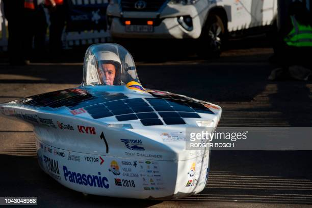 The car of the Japans University of Tokai starts the 8th and the final day of the Sasol Solar Challenge on September 29 in Swellendam The eightday...