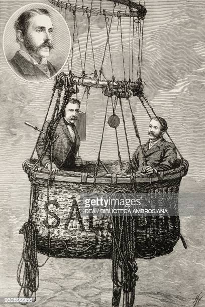 The car of the Saladin with Mr Walter Powell Member of Parliament and Captain James Templer Royal Engineer The balloon accident England United...