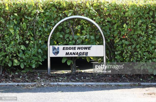 The car parking space of Eddie Howe the head coach / manager of AFC Bournemouth during the Premier League match between AFC Bournemouth and Newcastle...
