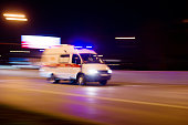The car rushes on the highway at high speed