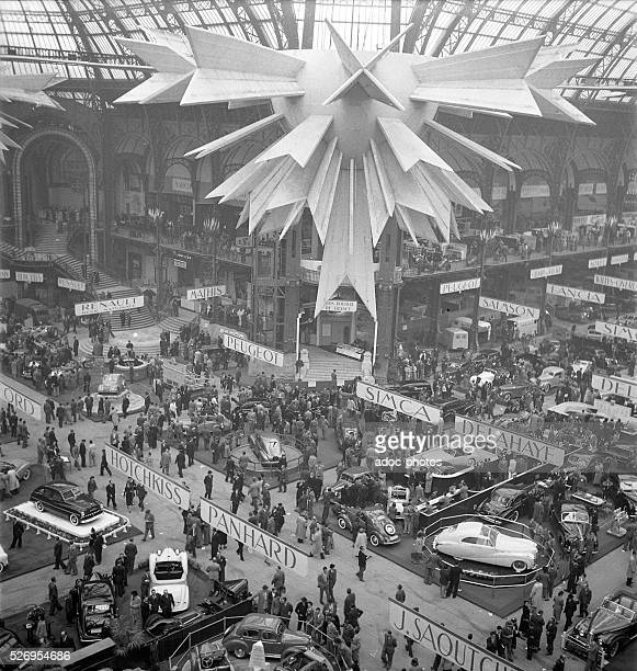 The Car Show at the Grand Palais in Paris In 1950