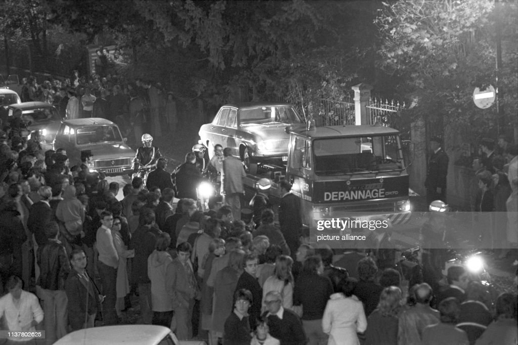 The car with the corpse of murdered Hanns Martin Schleyer was ...
