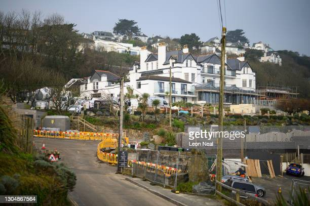 The Carbis Bay Estate hotel, set to be the main venue for the upcoming G7 summit, is seen on March 02, 2021 in Carbis Bay, Cornwall, United Kingdom....