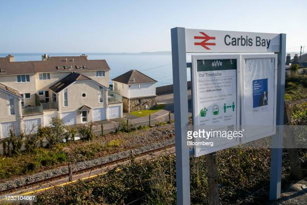 The Carbis Bay train station in Cornwall, U.K., on Sunday, April 4, 2021. U.K. Prime Minister Boris Johnson plans to host Group of Seven leaders at a...