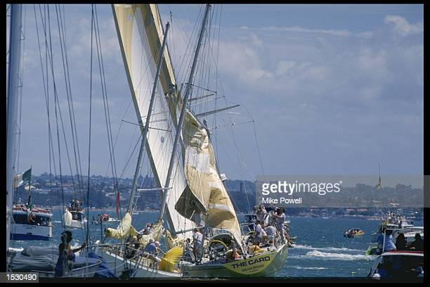 The Card loses her Mizzen Mast during the Whitbread round the world yacht race Mandatory Credit Mike Powell/Allsport