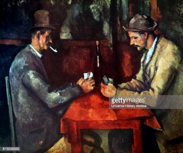 The Card Players 189092 by the French PostImpressionist artist Paul Cezanne Painted during Cezanne's final period in the early 1890s there are five...