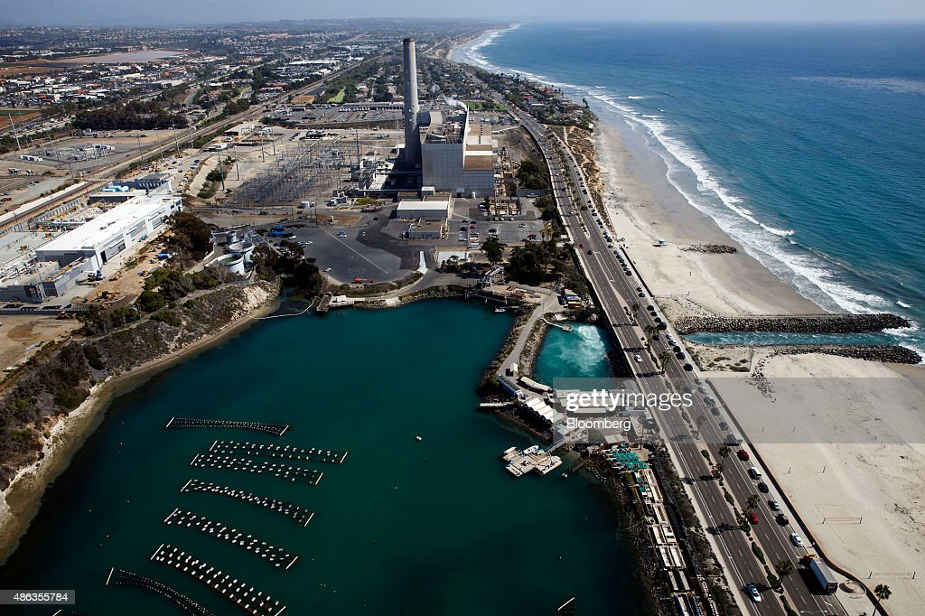 Aerial Views Of Construction On The Carlsbad Desalination Plant : News Photo