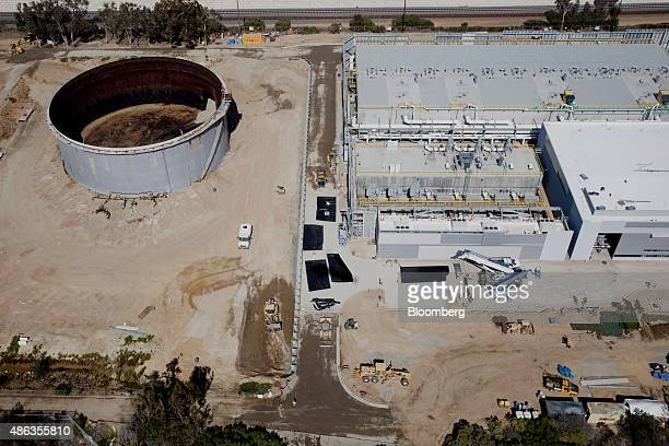 The Carlsbad Desalination plant stands under construction in this aerial photograph taken over Carlsbad California US on Monday Aug 31 2015 The $1...