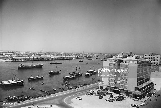 The Carlton Hotel on the banks of the Creek in Dubai circa 1978 The property was later rebuilt as the Carlton Tower Hotel