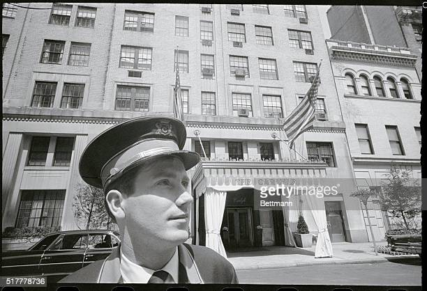 The Carlyle Hotel in New York 76th Street doorman is John Feeney of Woodside
