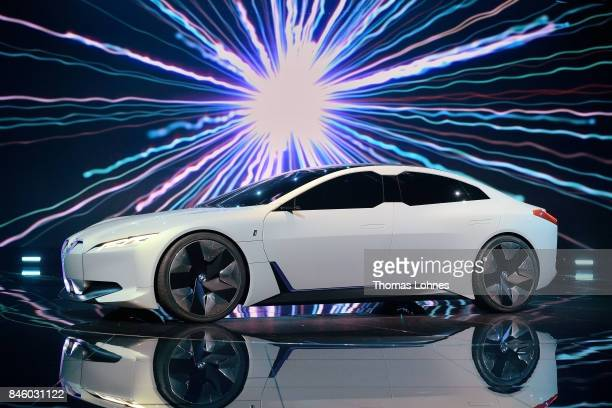 The carmaker BMW presents the BMW i vision dynamics at the 2017 Frankfurt Auto Show on September 12 2017 in Frankfurt am Main Germany The Frankfurt...