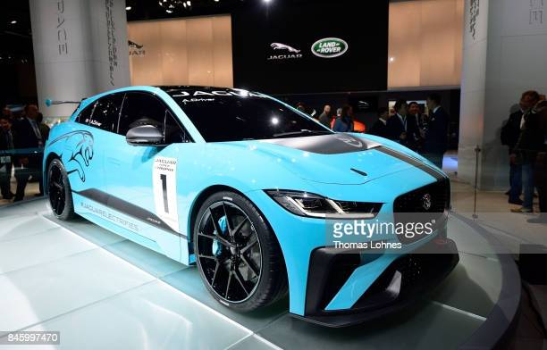 The carmaker Jaguar presents their first electric 'IPACE Concept Car' at the 2017 Frankfurt Auto Show on September 12 2017 in Frankfurt am Main...