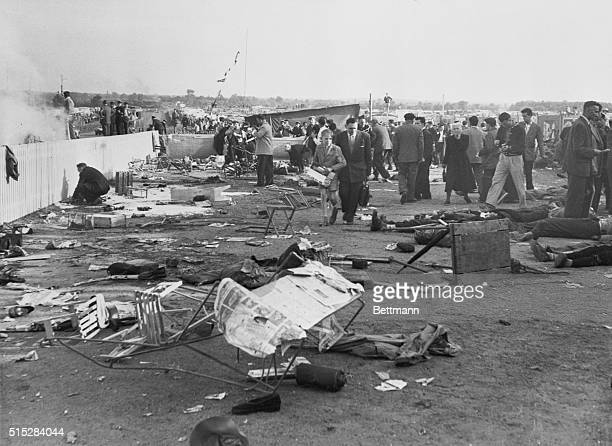 The Carnage and the Wreckage Le Mans France The wreckage of the death car and bodies of some of the victims felled by the explosion on Saturday lie...
