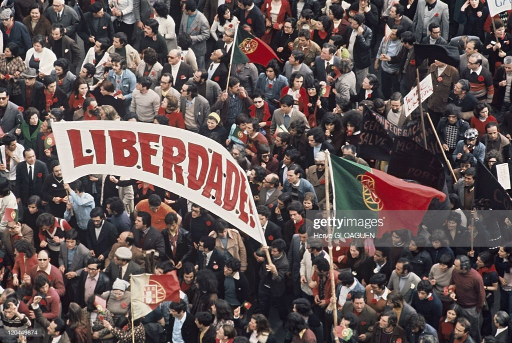 The Carnation Revolution In Lisbon, Portugal In May 1, 1974 - : News Photo