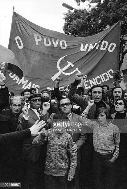 The carnation revolution in Lisbon Portugal in May 1 1974